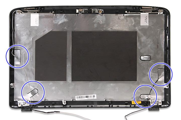 Как разобрать ноутбук Acer Aspire 5738G/5738ZG/5738Z/5738/5338, Aspire 5536/5536G/5236 (98)