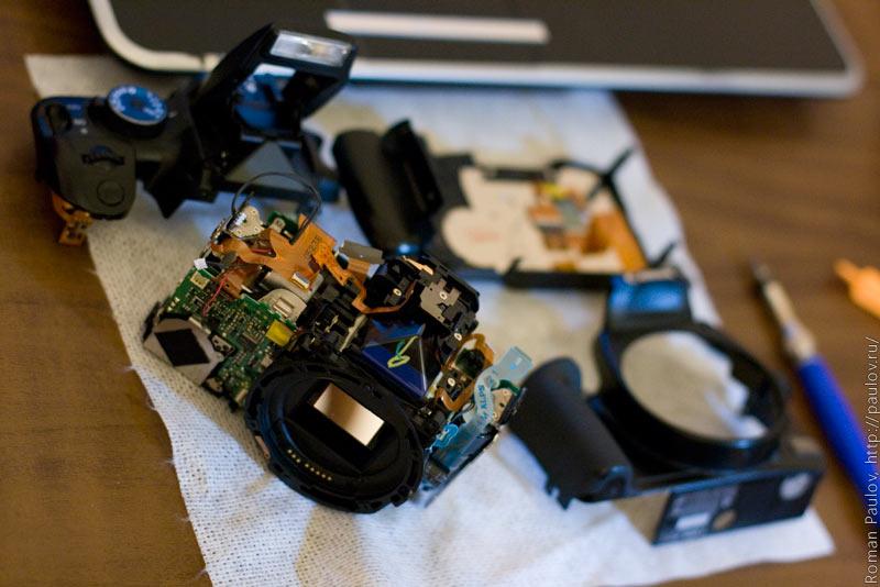 Canon 400D Rabel xTi как разобрать