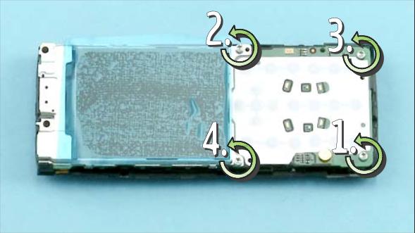Как разобрать телефон Nokia X2 00 для замены дисплея или корпуса (18)