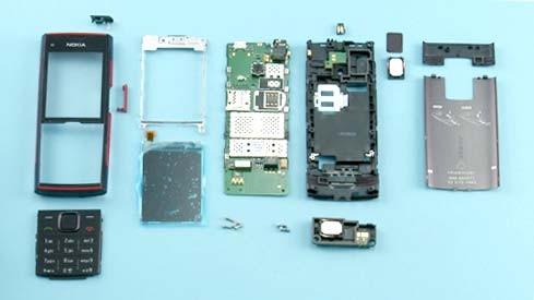 Как разобрать телефон Nokia X2 00 для замены дисплея или корпуса (33)