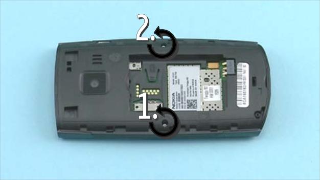 Как разобрать телефон Nokia X2 01 для замены дисплея или корпуса (41)