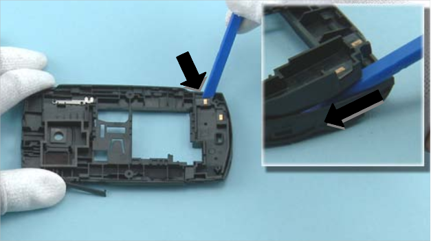 Как разобрать телефон Nokia X2 01 для замены дисплея или корпуса (18)