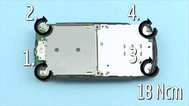 Как разобрать телефон Nokia X2 01 для замены дисплея или корпуса (7)