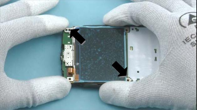 Как разобрать телефон Nokia X2 01 для замены дисплея или корпуса (5)