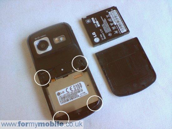 как разобрать телефон LG KC780 (2)