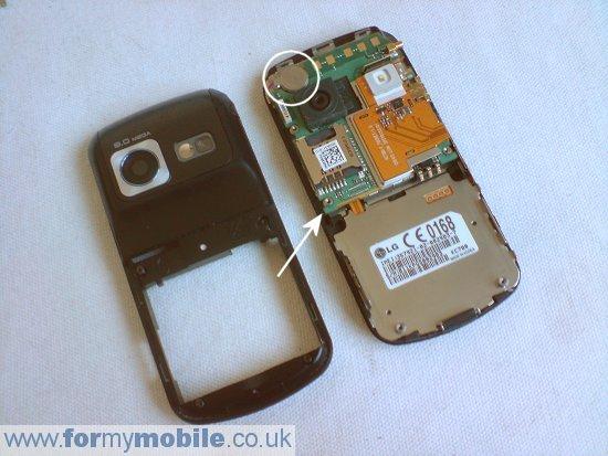 как разобрать телефон LG KC780 (4)