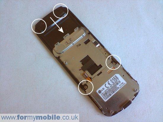 как разобрать телефон LG KC780 (7)
