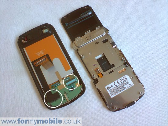 как разобрать телефон LG KC780 (8)