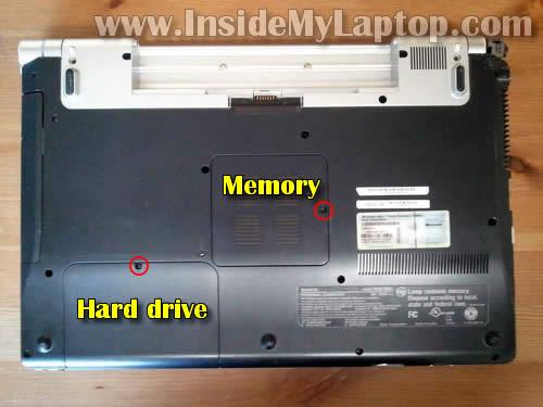 Как разобрать ноутбук Sony Vaio VGN-FW170J (3)