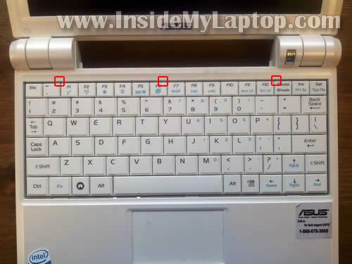 Как заменить клавиатуру на ноутбуке Asus Eee PC 900 (2)