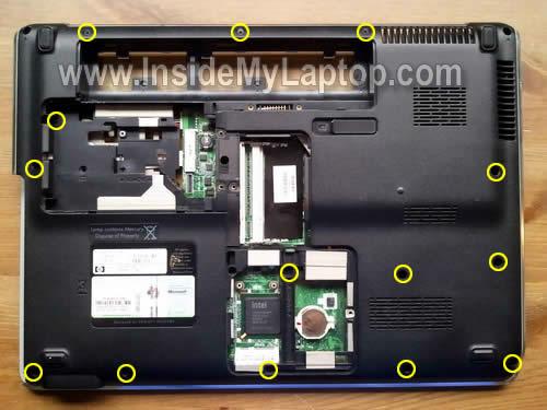 Как разобрать ноутбук HP Pavilion dv5 (25)