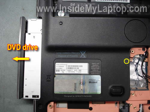 Как разобрать ноутбук HP Pavilion dv7 (5)