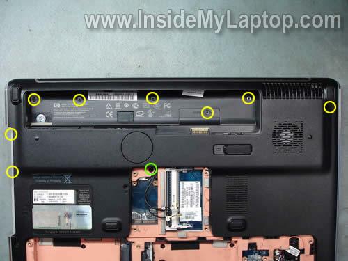 Как разобрать ноутбук HP Pavilion dv7 (6)
