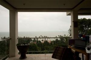 Вид из нашего дома в Таиланде