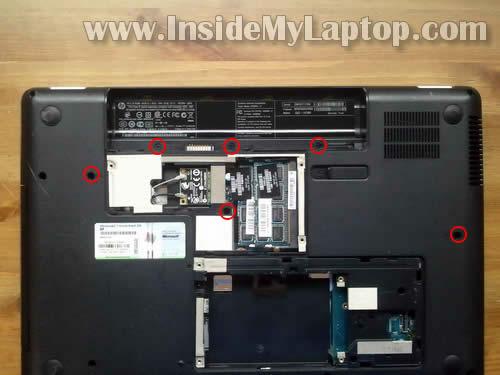 Как разобрать ноутбук HP G62 или Compaq Presario CQ62 (5)