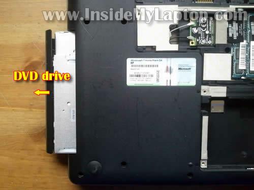 Как разобрать ноутбук HP G62 или Compaq Presario CQ62 (6)