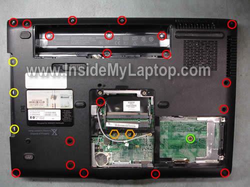 Как разобрать ноутбуки HP