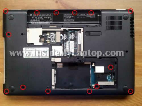 Как разобрать ноутбук HP G62 или Compaq Presario CQ62 (14)