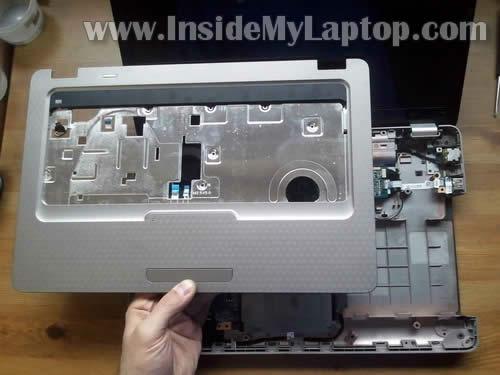 Как разобрать ноутбук HP G62 или Compaq Presario CQ62 (19)