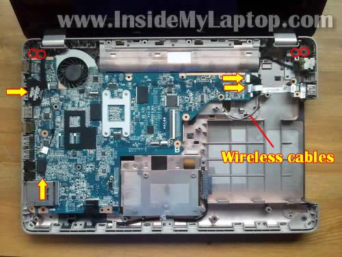 Как разобрать ноутбук HP G62 или Compaq Presario CQ62 (21)