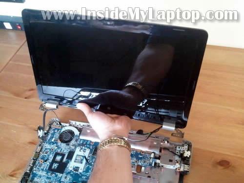 Как разобрать ноутбук HP G62 или Compaq Presario CQ62 (22)
