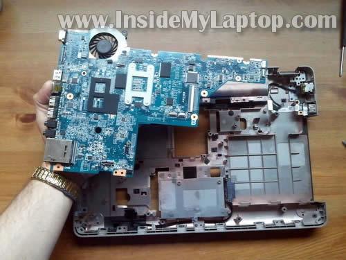 Как разобрать ноутбук HP G62 или Compaq Presario CQ62 (25)