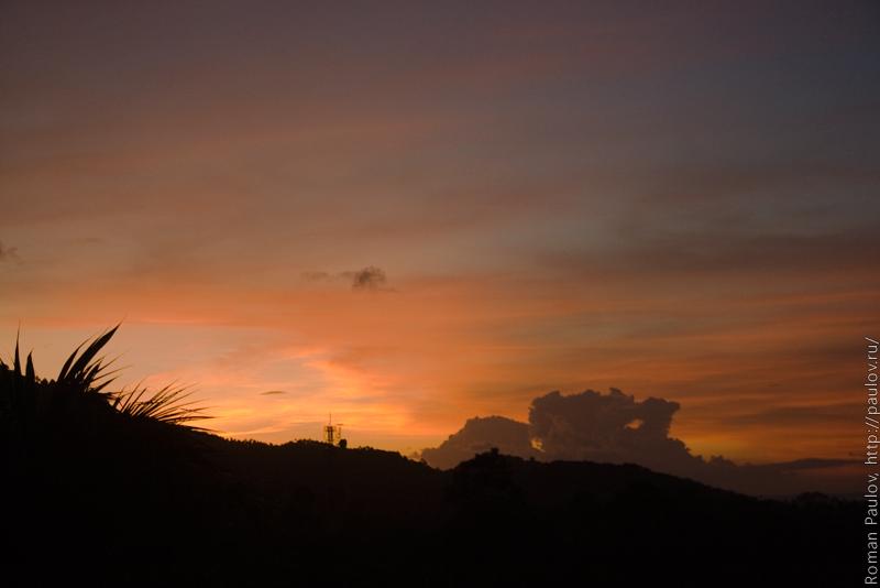 Закат на Самуи Таиланд