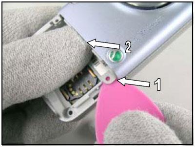 Как разобрать телефон Sony Ericsson D750i/K758c/W800/W700 (11)