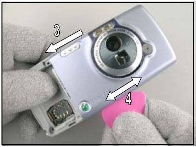 Как разобрать телефон Sony Ericsson D750i/K758c/W800/W700 (12)