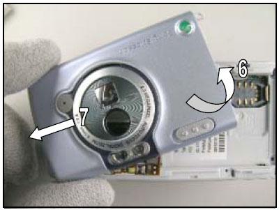 Как разобрать телефон Sony Ericsson D750i/K758c/W800/W700 (14)
