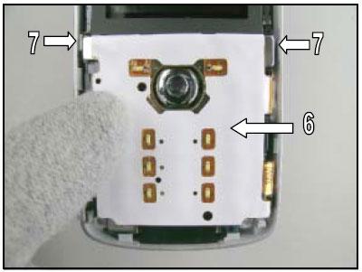 Как собрать телефон Sony Ericsson D750i/K758c/W800/W700 после замены деталей (65)