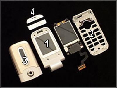 Как собрать телефон Sony Ericsson Z550i/Z550c/Z550a/Z558i/Z558c после замены деталей (2)