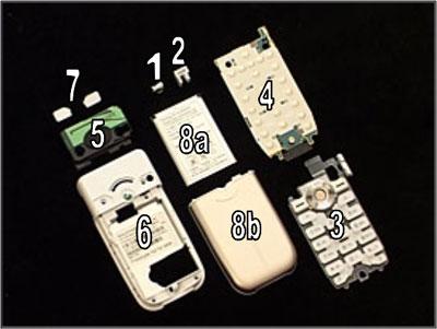 Как собрать телефон Sony Ericsson Z550i/Z550c/Z550a/Z558i/Z558c после замены деталей (19)