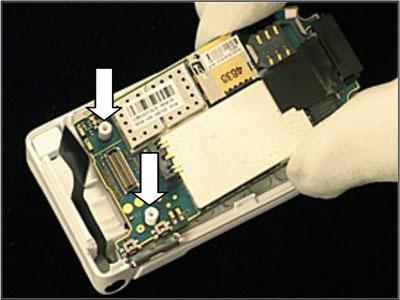 Как собрать телефон Sony Ericsson Z550i/Z550c/Z550a/Z558i/Z558c после замены деталей (26)