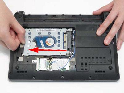 Как разобрать ноутбук Packard Bell dot s (15)