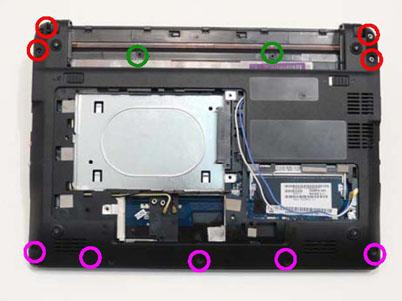 Как разобрать ноутбук Packard Bell dot s (47)