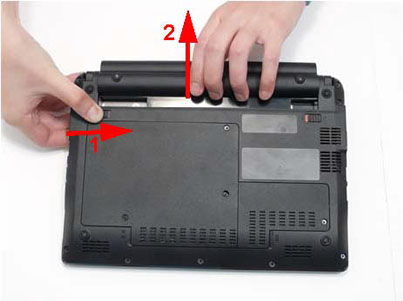 Как разобрать ноутбук Packard Bell dot s (4)