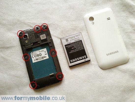 Как разобрать телефон Samsung Galaxy Ace S5830 (2)
