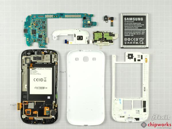 Как разобрать телефон Samsung Galaxy S III (16)