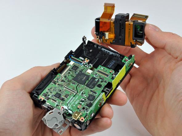 Как разобрать фотоаппарат Nikon Coolpix S1000pj (28)