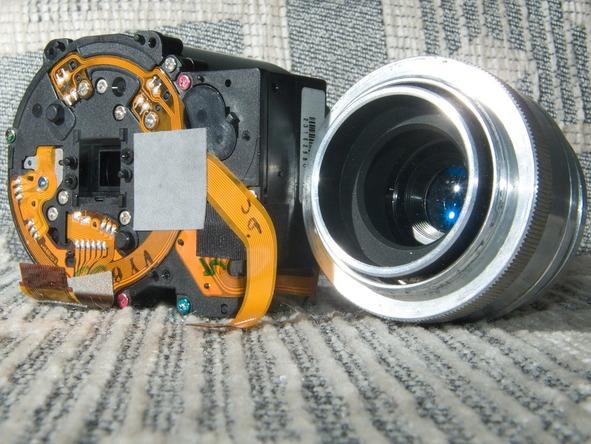 Как разобрать фотоаппарат Sony Cyber-shot DSC-H2 (35)