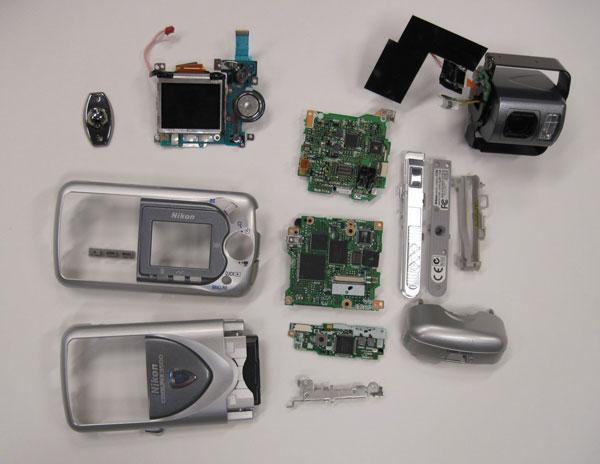 Как разобрать фотоаппарат Nikon Coolpix 3500