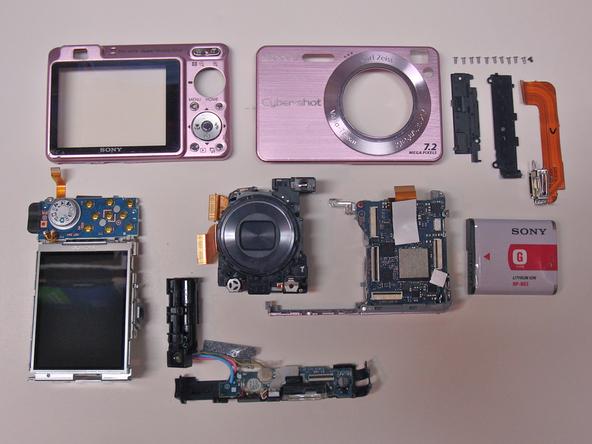 Как разобрать фотоаппарат Sony Cyber-Shot DSC-W120 (36)