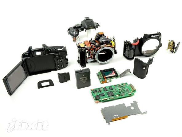Как разобрать фотоаппарат Nikon D5100 (30)