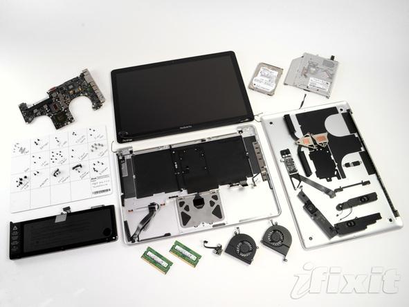 """Как разобрать ноутбук Apple MacBook Pro 15"""" Unibody (28)"""