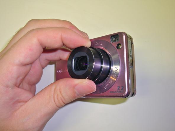Как разобрать фотоаппарат Sony Cyber-Shot DSC-W120 (6)