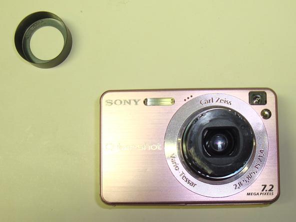Как разобрать фотоаппарат Sony Cyber-Shot DSC-W120 (7)