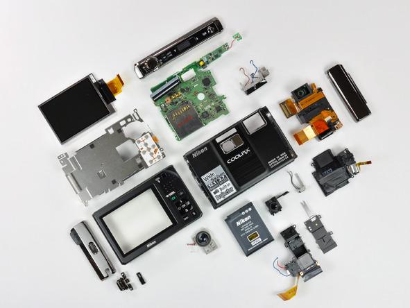 Как разобрать фотоаппарат Nikon Coolpix S1000pj (46)