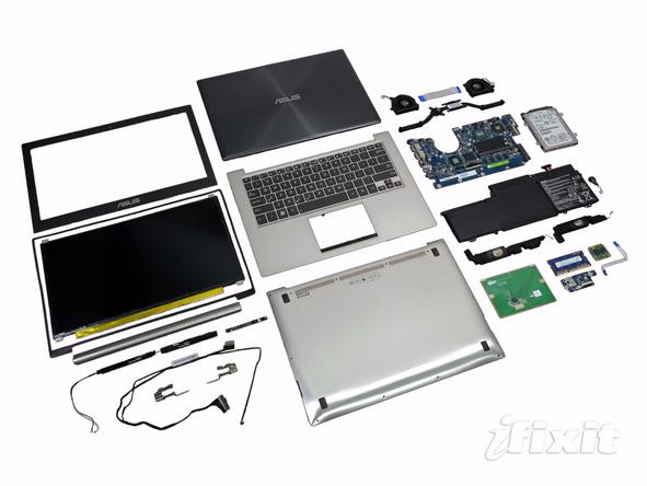 Как разобрать ноутбук Asus Zenbook UX32VD (51)