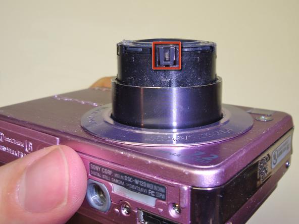 Как разобрать фотоаппарат Sony Cyber-Shot DSC-W120 (8)